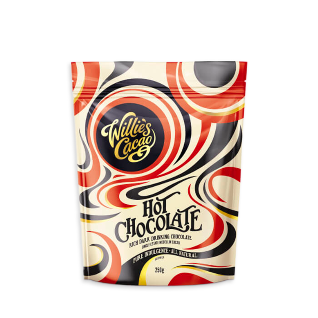 Willie's Cacao Hot Chocolate Kolumbie Medellin 52%, horká čokoláda 250 g