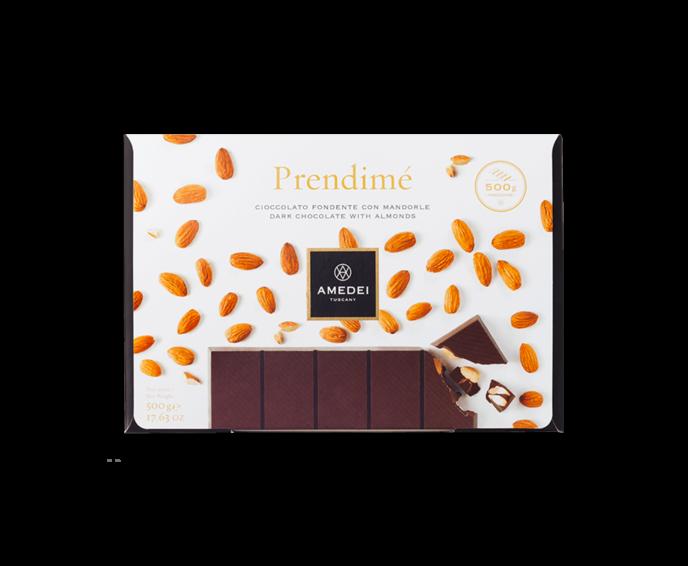 Amedei Prendimé 66% hořká čokoláda s mandlemi 500 g
