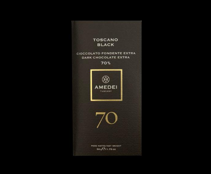 Amedei Toscano Black 70% hořká čokoláda 50 g
