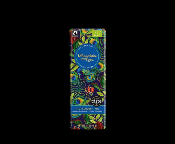 Chocolate & Love BABY Rich Dark 71% hořká čokoláda Bio 40g