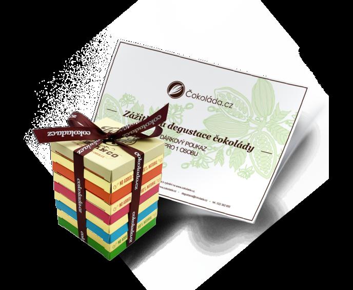 Dárkový poukaz na degustaci čokolády s dárkovým balením