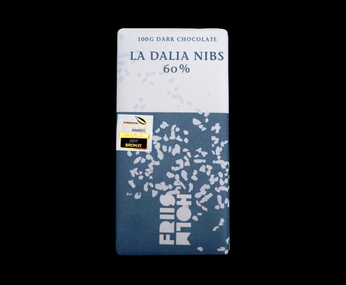 FRIIS-HOLM LA DALIA NIBS 60% hořká čokoláda s boby 100 g