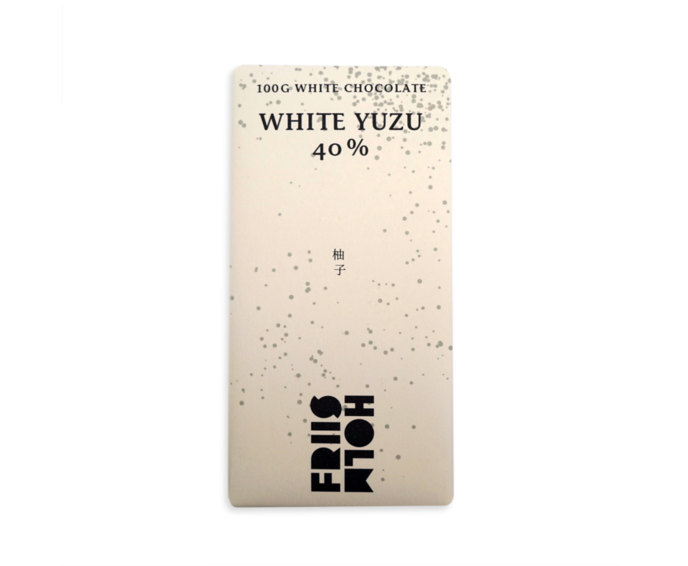 FRIIS-HOLM WHITE YUZU 40% bílá čokoláda s citrusem Yuzu 100 g