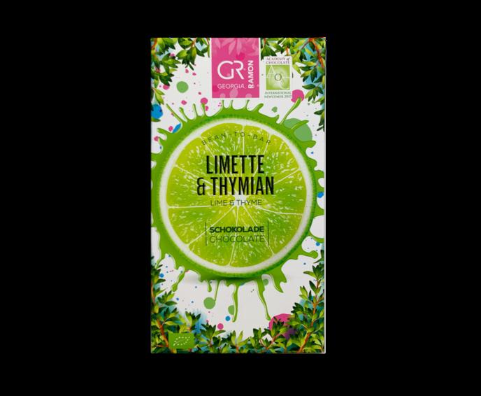 GR 37% bílá čokoláda - limetka a tymián BIO 50 g
