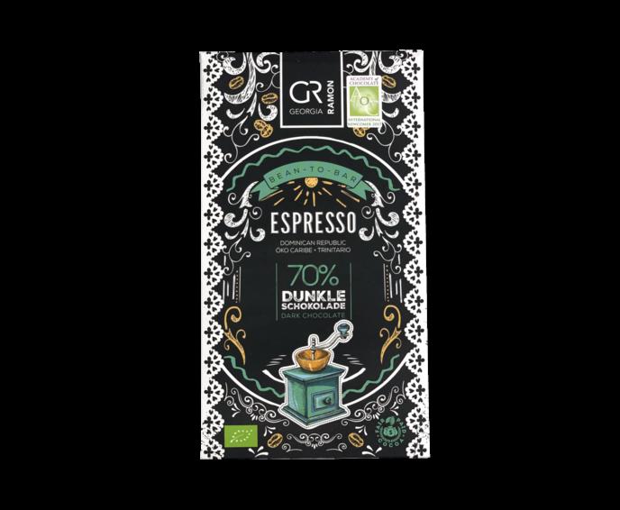 GR 70% hořká čokoláda - Espresso BIO 50 g