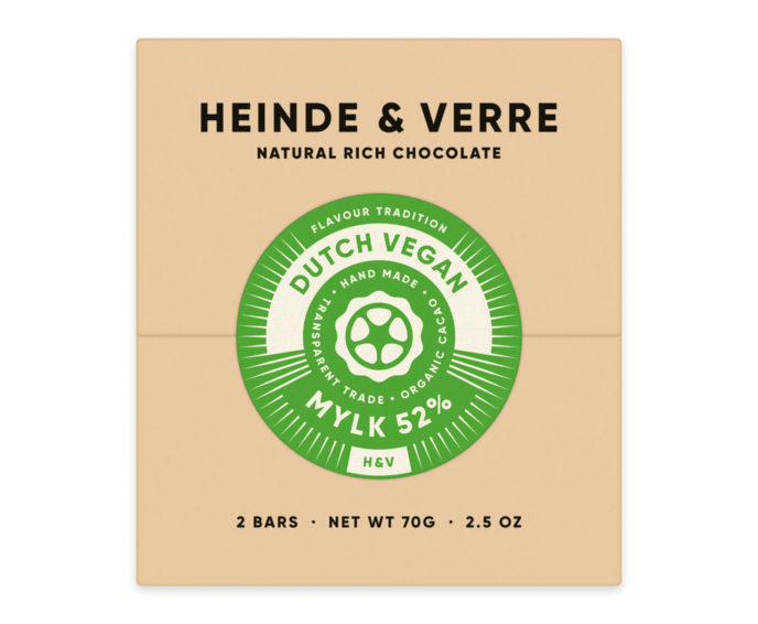 Heinde & Verre 52% hořká čokoláda Dutch Vegan Mylk 70 g
