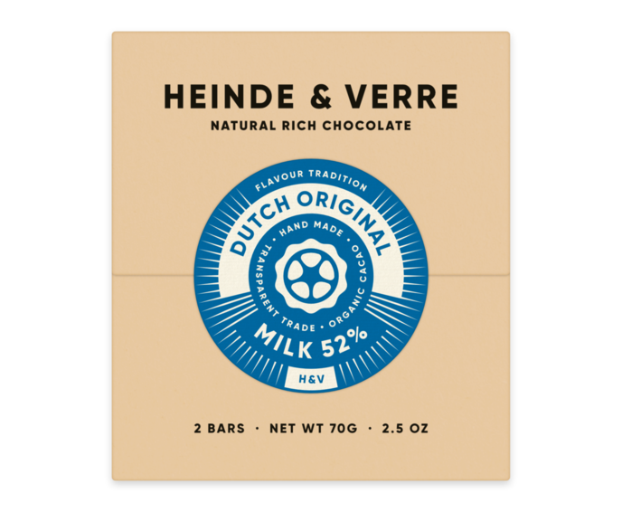 Heinde & Verre 52% mléčná čokoláda Dutch Original Milk 70 g