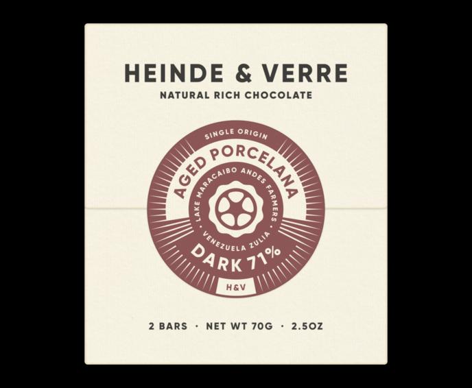 Heinde & Verre 71% hořká čokoláda Aged Porcelana Dark 70 g