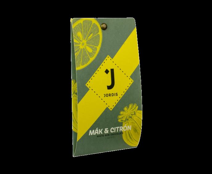 Jordi's bílá čokoláda 40% MÁK A CITRON LIMITED 50 g
