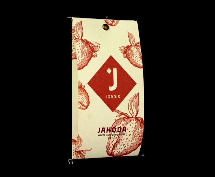 Jordi's Jahoda 40% bílá čokoláda LIMITED 50 g