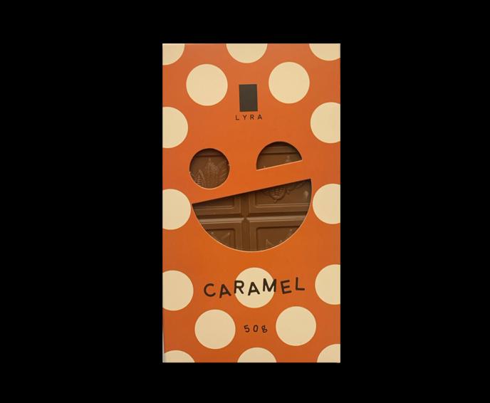 LYRA CARAMEL - 31% mléčná čokoláda s karamelem 50 g