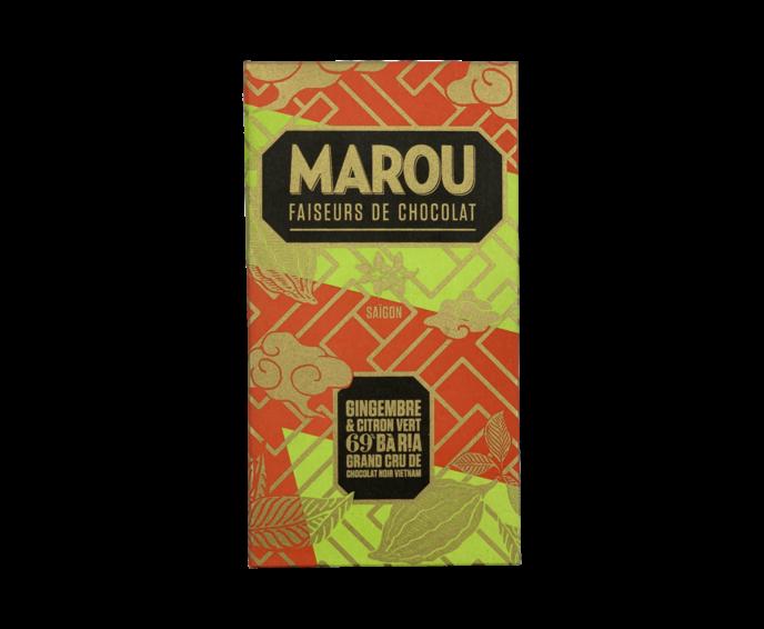 Marou 69% hořká čokoláda se zázvorem a limetkou 80 g