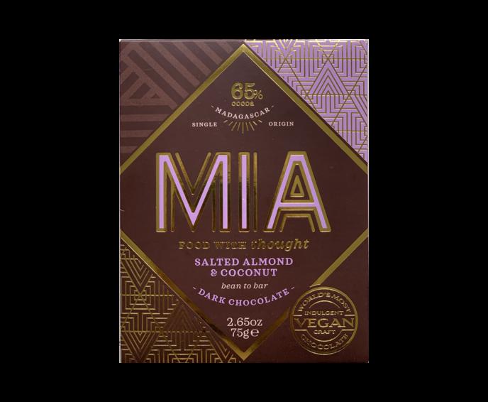 MIA 65% hořká čokoláda s mandlemi a kokosem 75 g