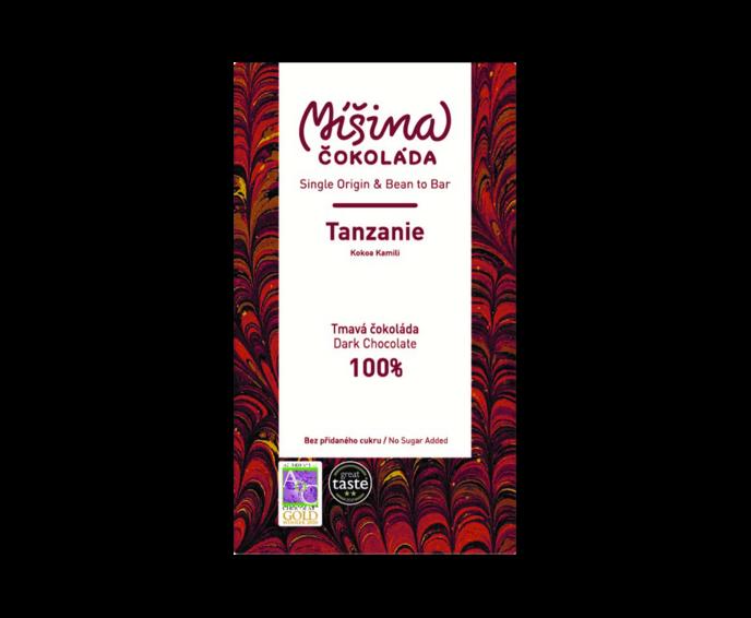 Míšina čokoláda 100% hořká čokoláda - Tanzanie 50 g