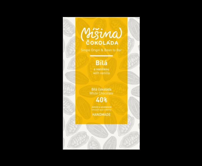Míšina čokoláda 40% bílá čokoláda s vanilkou 50 g