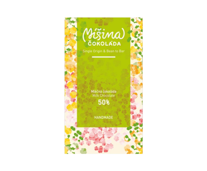 Míšina čokoláda 50% mléčná čokoláda - JARNÍ EDICE Madagaskar 50g