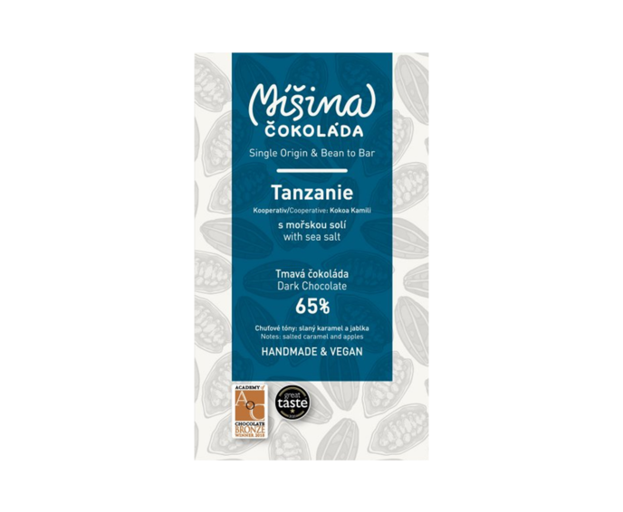 Míšina čokoláda 65% hořká čokoláda Tanzanie s mořskou solí 50 g