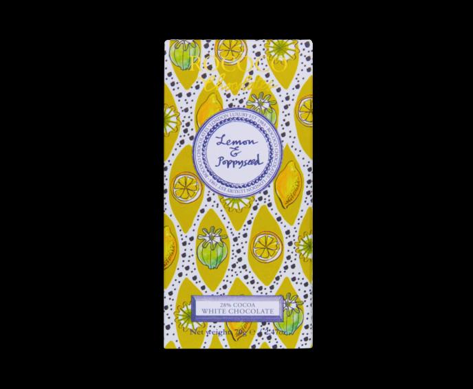 Rococo 28% bílá čokoláda s mákem a citronem 70g
