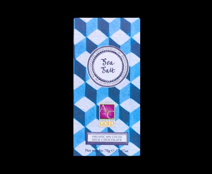 Rococo 40% mléčná čokoláda - mořská sůl Bio 70g