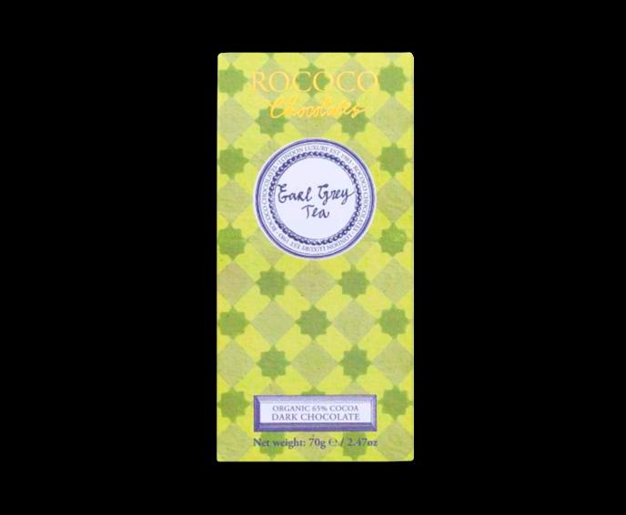 Rococo 65% hořká čokoláda - Earl Grey čaj BIO 70 g