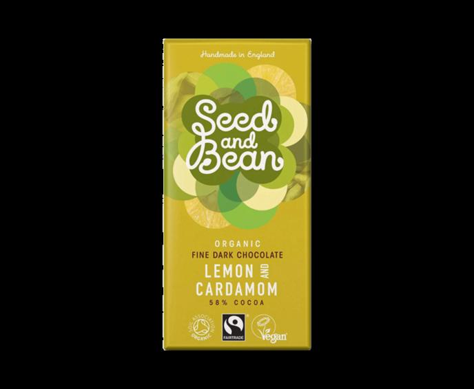 Seed and Bean 58% hořká čokoláda citron a kardamom Bio 85 g