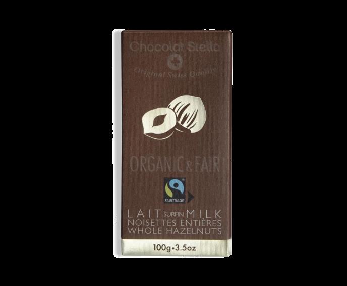 Stella 36% mléčná čokoláda s lískov. oříšky BIO 100 g