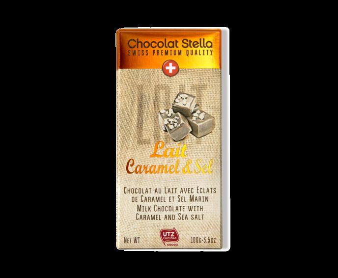 Stella PQ 33% mléčná čokoláda s kousky soli a karamelu 100 g