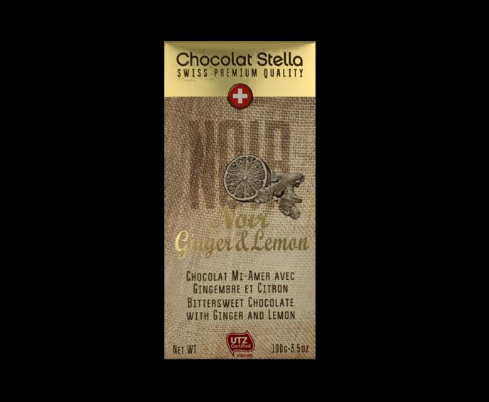 Stella Premium Quality EXP hořkomléčná čokoláda se zázvorem a citronem 100g