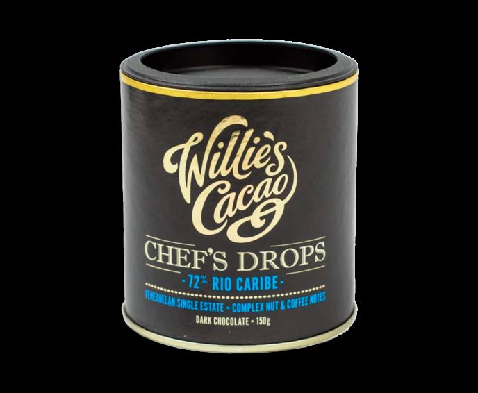 Willie's Cacao 72% hořké čokoládové čočky Rio Caribe 150 g