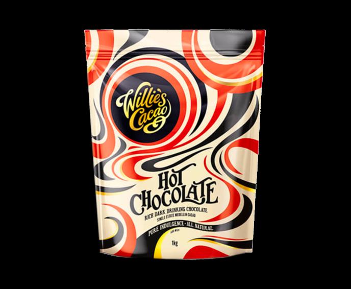 Willie's Cacao MAXI Hot Chocolate Kolumbie Medellin 52%, horká čokoláda 1 kg