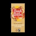 Seed and Bean 37% mléčná čokoláda sicilské oříšky a mandle BIO 85 g