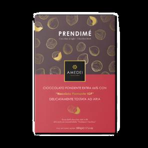 Amedei Prendimé 66% hořká čokoláda s lískovými oříšky 500 g