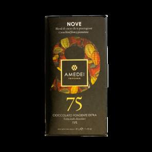 """Amedei Toscano Black """"9"""" 75% hořká čokoláda 50 g"""