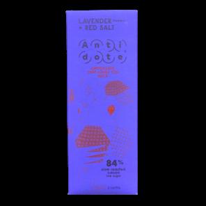 Antidote 84% hořká čokoláda - levandule a červená sůl 65 g