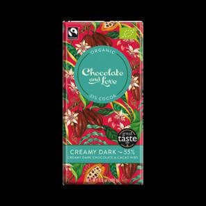 Chocolate & Love EXP Creamy Dark 55% hořká smetanová čokoláda - kakaové boby Bio 80g