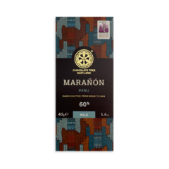 Chocolate Tree MINI Peru Maranón 60%, mléčná čokoláda 40g