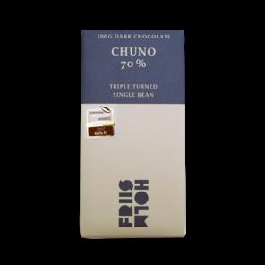 FRIIS-HOLM CHUNO TRIPLE TURNED 70% hořká čokoláda 100 g