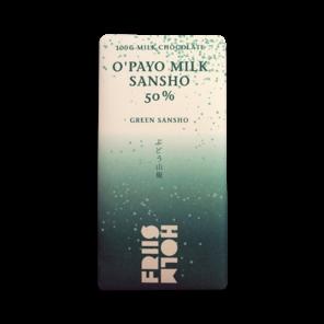 FRIIS-HOLM O´PAYO SANSHO 50% mléčná čokoláda se zeleným pepřem 100 g