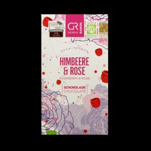 GR 40% bílá čokoláda - maliny a růže BIO 50 g