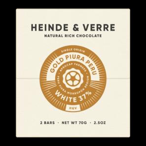 Heinde & Verre 37% bílá čokoláda Gold Piura Peru White 70 g
