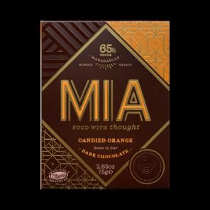 MIA 65% hořká čokoláda s kand. pomeranč. kůrou 75g