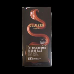 Michel Cluizel Éclats Caramel Beurre Salé 45% mléčná čokoláda se slaným karamelem 100 g