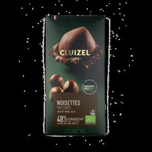Michel Cluizel Lait Noisettes 48% mléčná čokoláda s lískovými ořechy 100 g