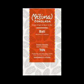 Míšina čokoláda 70% hořká čokoláda Bali Jembrana 50 g