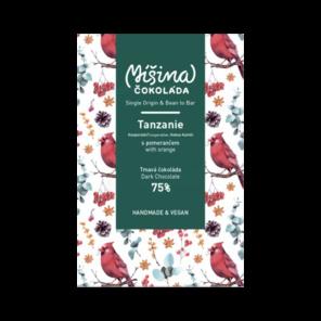 Míšina čokoláda 75% hořká Tanzanie s pomerančem 80 g