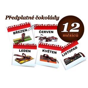 Předplatné čokolády na 12 měsíců, 1 tabulka (hořká)