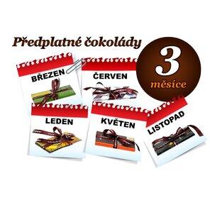 Předplatné čokolády na 3 měsíce, 1 tabulka (hořká i mléčná)
