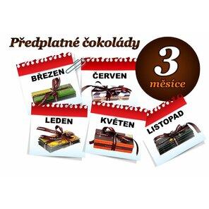 Předplatné čokolády na 3 měsíce, 3 tabulky (mléčná)