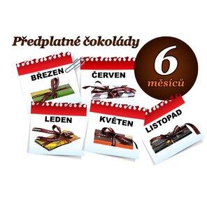 Předplatné čokolády na 6 měsíců, 1 tabulka (hořká i mléčná)