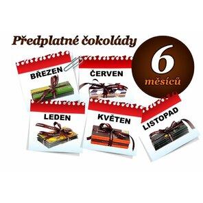 Předplatné čokolády na 6 měsíců, 3 tabulky (hořká i mléčná)